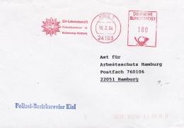 Germany Cover P/m Kiel 1994 Polizei-Bezirksrevier Kiel - Machine Cancel (SKO10-48) - Politie En Rijkswacht