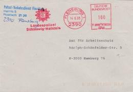 Germany Cover P/m Flensburg 1993 Polizei-Verkehrsdienst Flensburg - Machine Cancel (SKO10-48) - Police - Gendarmerie
