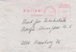 Germany Cover P/m Schweich, Mosel 1993 Polizei Schweich - Machine Cancel (SKO10-48) - Police - Gendarmerie