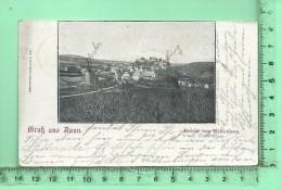 DAUN: Gruss Aus Daun, Ansicht Vom Mühlenberg,  Voyagée De Daun à Wehr En 1899 - Daun