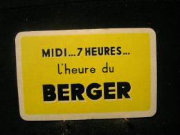 1 Dos De Carte à Jouer / Playcard / Publicitè Au Dos / Liqueurs-Spiritueux, Berger,Midi...7 Heures L´heure... Du Berger - Unclassified