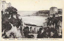 Monaco - Ravin Sainte-Dévote Et Le Port - Train Sur Le Pont De Chemin De Fer - Carte Non Circulée - Harbor