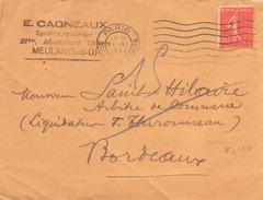 FRANCE ENVELOPPE DE PARIS POUR BORDEAUX DU 21 JUIN 1927 - France