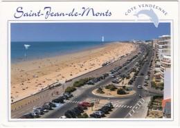 Saint-Jean-de-Monts: RENAULT ESPACE, MEGANE & TWINGO, VW GOLF Etc. - L'Esplanade De La Mer Et La Plage - Voitures De Tourisme