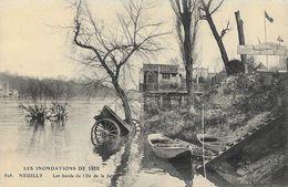 Les Inondations De 1910 - Neuilly - Les Bords De L'Ile De La Jatte - Carte N° 828 Non Circulée - Inondations