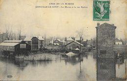 Crue De La Marne - Joinville-le-Pont - La Marne Et La Rue Pauline - Carte E.L.D. Timbrée, Mais Non écrite - Inondations