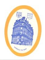 Etiquette Gommée Pour Valise, Bagage,... Hôtel De La Paix à LIMOGES (sf110) - Publicités