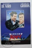 Original 1988 Cinema/ Movie Promotional Image - Midnight Run, Robert De Niro & Charles Grodin - Publicidad