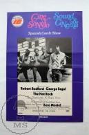 Original 1972 Cinema/ Movie Promotional Image - The Hot Rock, Actors: Robert Redford & George Segal - Publicidad