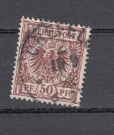 """Deutsches Reich 50 Pfennig Krone/Adler Michel 50 1889 - Zentrisch """"Crefeld"""" 1 Kreis - 18.9.92 - Deutschland"""