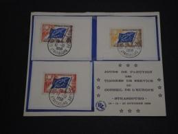 FRANCE - Enveloppe 1er Jour Conseil De L'Europe En 1959 - A Voir - L 1607 - FDC
