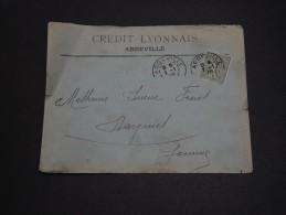 FRANCE - Type Semeuse Perforé CL Sur Enveloppe Commerciale De Abbeville En 1906 - A Voir - L 1608 - Perforés