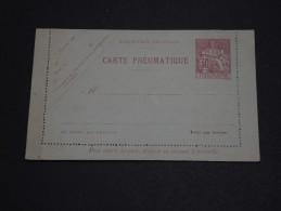 FRANCE - Entier Postal  Pneumatique - A Voir - L 1616