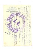 VIELSALM - Certificat Du Vétérinaire Jos. GILLET  En 1938 Avec Cachet   - Ferme, Agriculture, Vache,...(leon) - Cartes De Visite