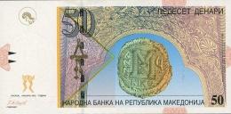 MACEDONIA 50 DENARI 2007 P-15e UNC  [ MK207e ] - Macedonia