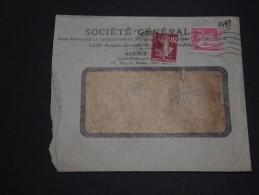 FRANCE - Enveloppe De Société Générale Avec Timbres Perforés 1939 - A Voir - L 1646 - Perforés
