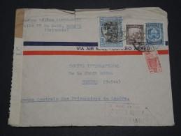COLOMBIE - Enveloppe Pour La Croix Rouge à Genève Avec Contrôle Postal - A Voir - L 1650 - Colombie