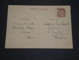 FRANCE - Entier Postal Type Iris De Evreux Pour Le Maroc En 1941- A Voir - L 1651