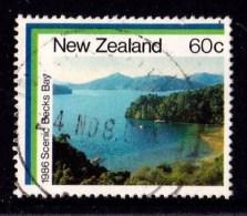 New Zealand 1986 Coastal Scenery 60c Becks Bay Used - - - New Zealand