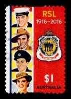 Australia 2016 RSL 1916-2016 $1 Self-adhesive Used - - Used Stamps