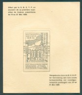 Carte Souvenir ANTWERPEN ANVERS 13-21-1939, Offert Part La SBCTP à L'occasion De La 1ere Exposition De Timbres Préoblité - Precancels