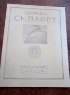 """Programme Tournées Charles Baret """" Amants  """" Maurice Donnay Marcelle Géniat - Programs"""