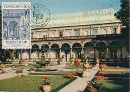 D25266 CARTE MAXIMUM CARD 1967 CZECHOSLOVAKIA - SUMMER PALACE QUEEN ANNE CP ORIGINAL - Architecture