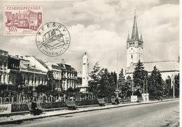 D25268 CARTE MAXIMUM CARD 1967 CZECHOSLOVAKIA - CITY OF PRESOV CP ORIGINAL - Architecture