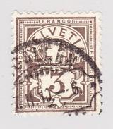 Schweiz Wertziffer 3Rp Zu#81 Rasierklingenstempel St Gallen ?-2-1910 - 1882-1906 Armoiries, Helvetia Debout & UPU