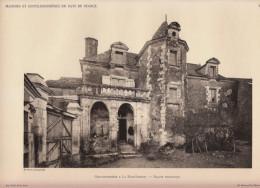1928 - Héliogravure - Saint-Aubin-de-Luigné (Maine-et-Loire) - Gentilhommière à La Haie-Longue - FRANCO DE PORT - Old Paper