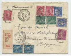 1940 - ENVELOPPE ENTIER TYPE PAIX RECOMMANDEE De PARIS Pour La BELGIQUE - CERES + MERCURE - Postal Stamped Stationery