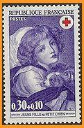 France 1971 1700 ** Croix-Rouge Française Greuze Jeune Fille Au Petit Chien - Peinture - France