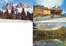 Bolzano - Lotto 3 Cartoline DOLOMITI: ALTA VAL BADIA / PASSO STELVIO / LAGO CAREZZA - OTTIMO M91 - Bolzano