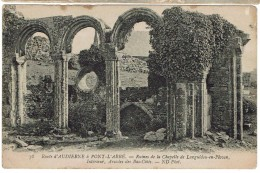CPA - 29 - Route D' AUDIERNE à Pont-L'Abbé - Ruines De La Chapelle De Languidou En Plovan, Intérieur, Arcades - Audierne