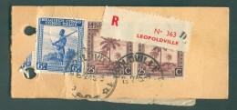 Etiquette échantillon Sans Valeur En Recommandé De LEOPOLDVILLE Le 16-2-1945 Vers Bruxelles - 11375v