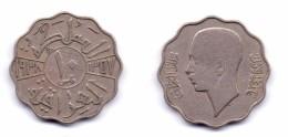 Iraq 10 Fils 1938 King Ghazi I - Iraq