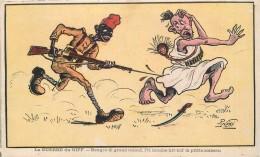 LA GUERRE DU RIFF- Carte Illustrée Par P Neri. - Unclassified
