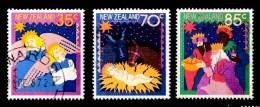 New Zealand 1987 Christmas Set Of 3 Used - New Zealand