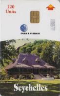 Télécarte à Puce Afrique 120 U - SEYCHELLES - Chaumière Typique - Africa Chip Phonecard