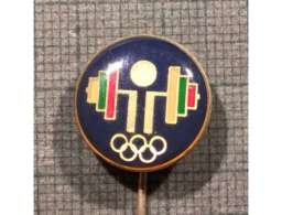 ULTRA RARE OFFICIAL BULGARIA NOC FEDERATION Weight Lifting Weightlifting SEUL 1988  BADGE PIN LOWER PRICE - Weightlifting