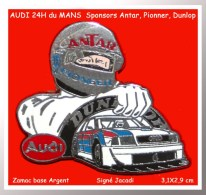 SUPER PIN´S AUDI : L'AUDI Formule 3000 24 Heures Du MANS Sponsors ANTAR, DUNLOP, PIONNER Signé JACADI - Audi
