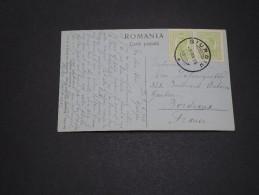 ROUMANIE - Oblitération De Giurgui En 1916 Sur Carte Postale Pour La France - A Voir - L 1697 - Marcofilia