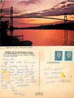 Thousand Islands Bridge, Ontario, Canada Postcard Posted 1988 Stamp - Gananoque
