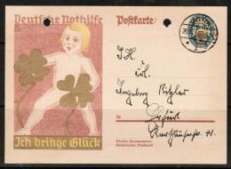 GERMANY  (2/11/28) Scott # B 28 On PPC---2 Hole Punch - Germany