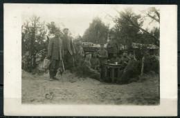 "CPA S/w Photokarte German Empires/Rußland 1915""Allemagne Soldiers,Soldaten,Pfingsten 1915""1 Photokarte Used, Bef. - Guerre 1914-18"