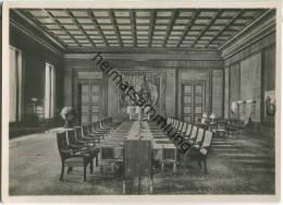 Berlin - Neue Reichskanzlei - Kabinettsitzungssaal - Foto-Ansichtskarte Großformat - Guerra 1939-45