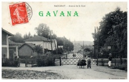 54 BACCARAT - Avenue De La Gare  -  (Resto/Verso) - Baccarat