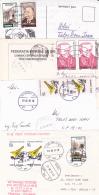 #BV2256     POSTCARDS 4X , PRINTED  CHESS,   VERY INTERESTING FRANKING,  ROMANIA. - 1948-.... Republics