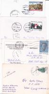 #BV2260         POSTCARDS 4X , PRINTED  CHESS,   VERY INTERESTING FRANKING,  ROMANIA. - Gebraucht