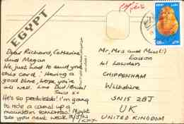 Egypt 2004 Used Postcard Send To England (St. Catherine) - Lettres & Documents